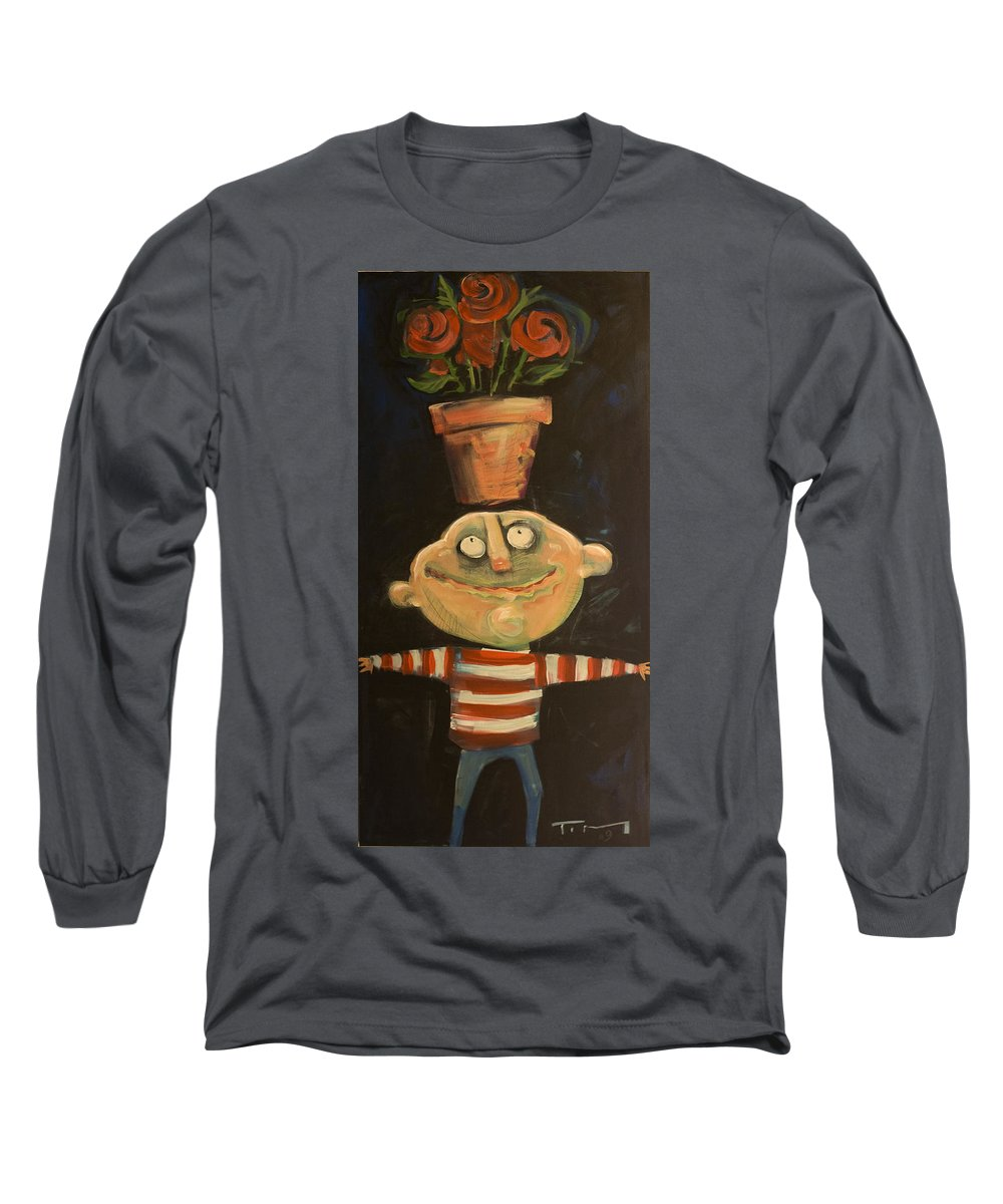 Man Long Sleeve T-Shirt featuring the painting Forrest The Florist by Tim Nyberg