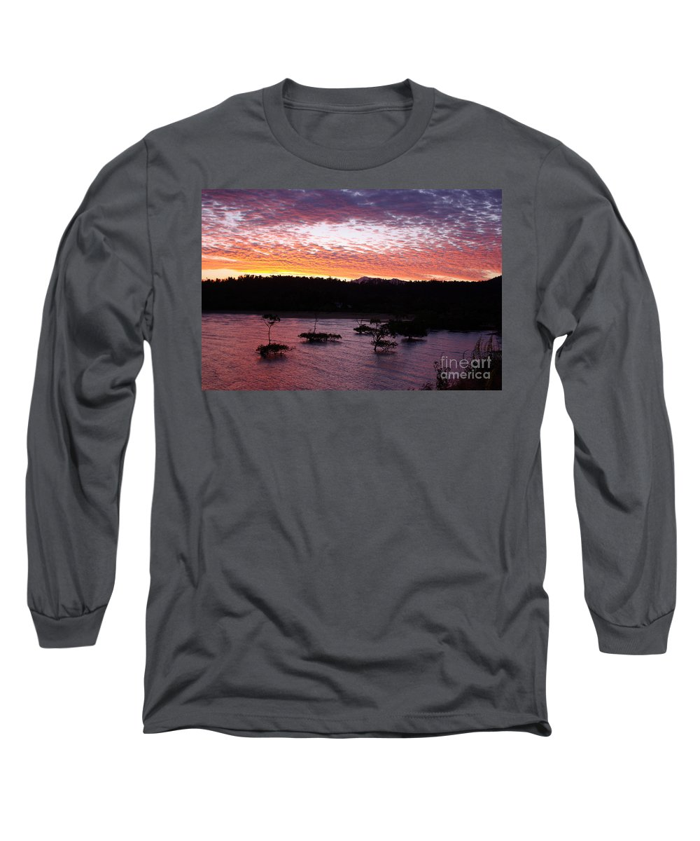 Landscape Long Sleeve T-Shirt featuring the photograph Four Elements Sunset Sequence 3 Coconuts Qld by Kerryn Madsen - Pietsch
