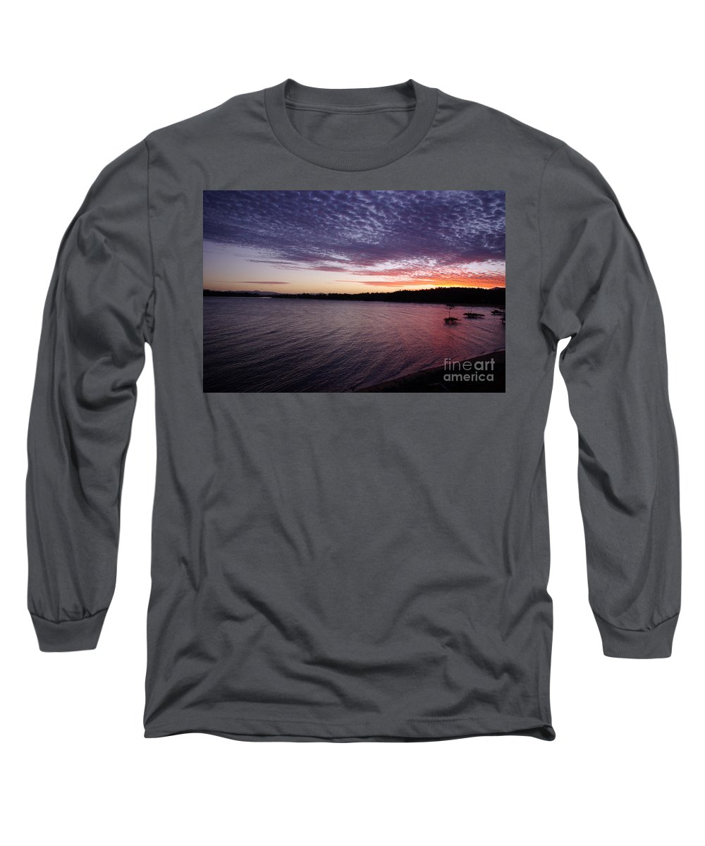 Landscape Long Sleeve T-Shirt featuring the photograph Four Elements Sunset Sequence 4 Coconuts Qld by Kerryn Madsen- Pietsch