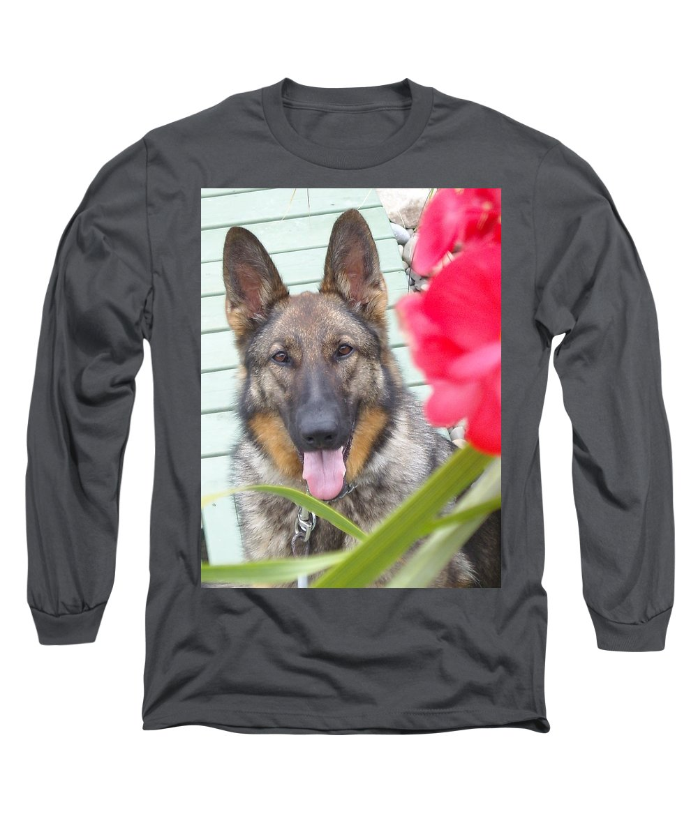 Dog Long Sleeve T-Shirt featuring the photograph Foxy by Line Gagne