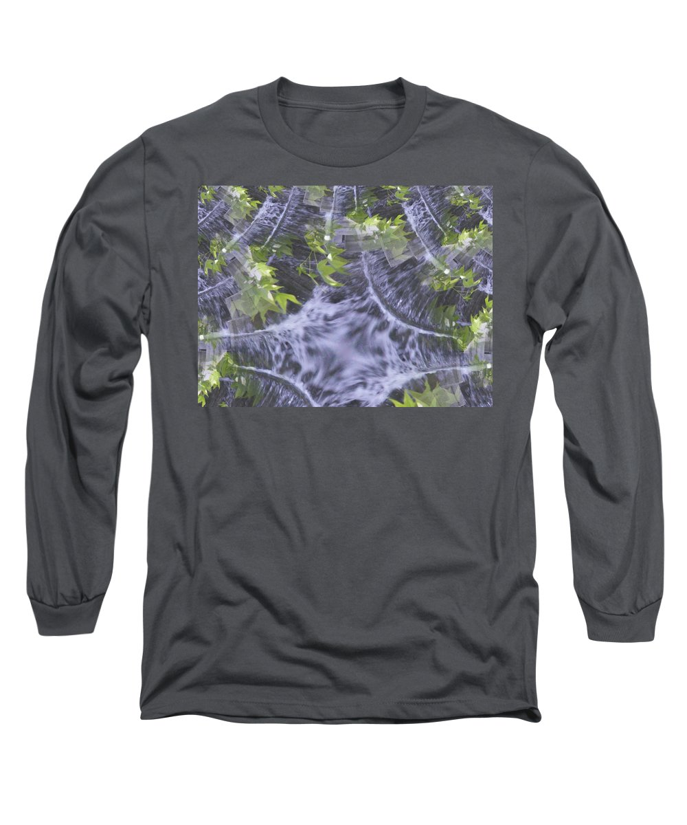 Seattle Long Sleeve T-Shirt featuring the digital art Freeway Park Waterfall 2 by Tim Allen