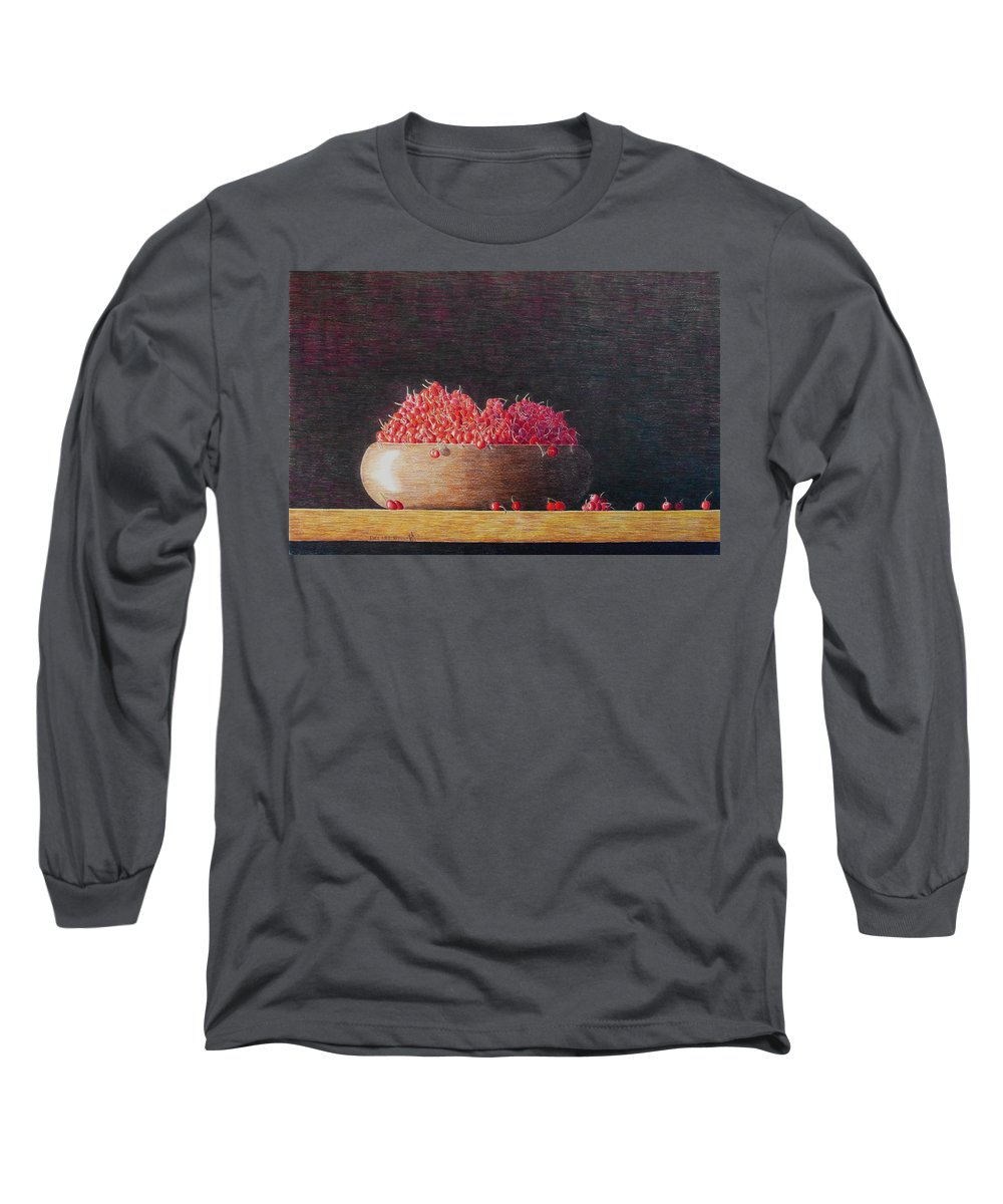 Still Life Long Sleeve T-Shirt featuring the painting Full Life by A Robert Malcom