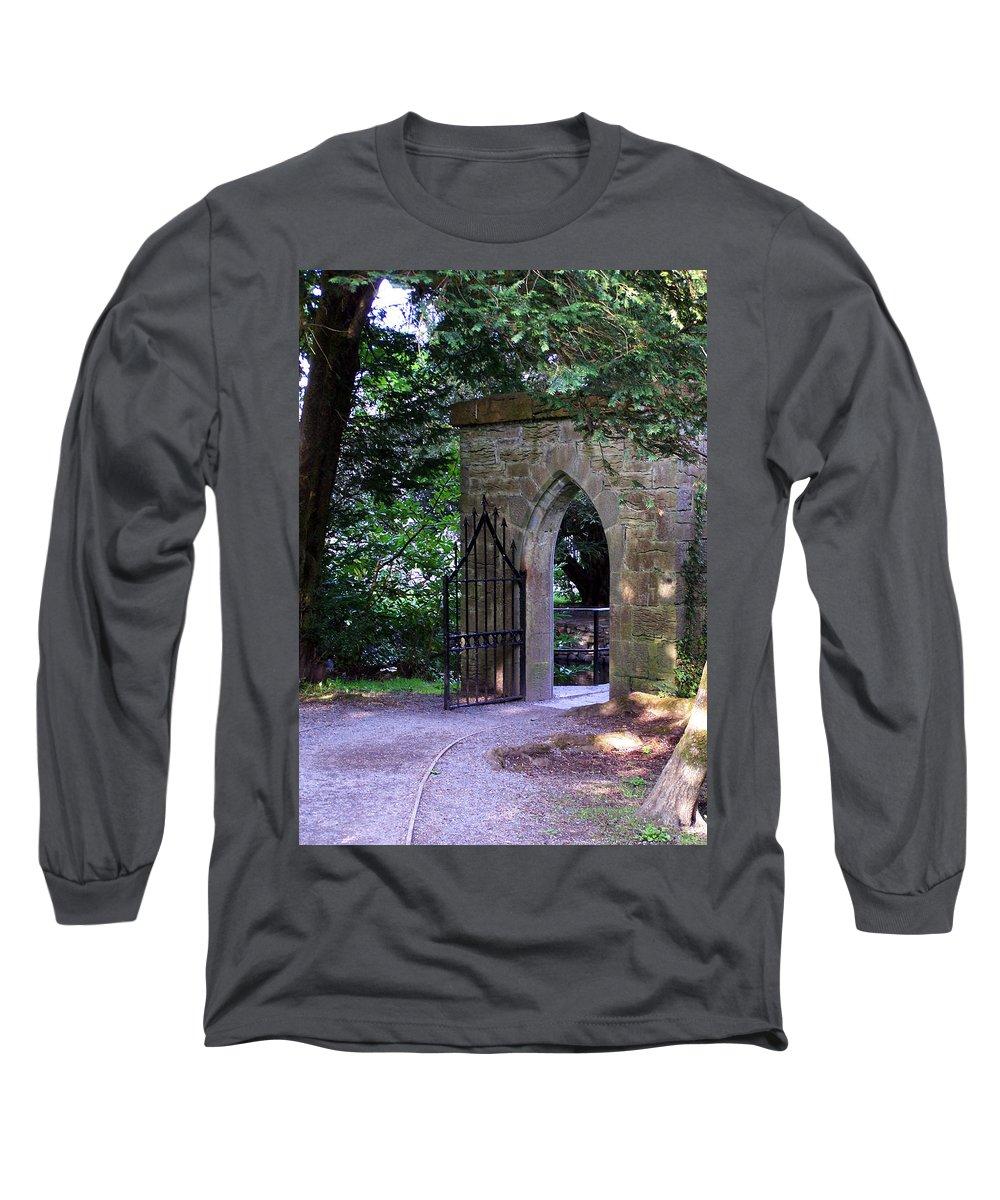 Irish Long Sleeve T-Shirt featuring the photograph Gate At Cong Abbey Cong Ireland by Teresa Mucha