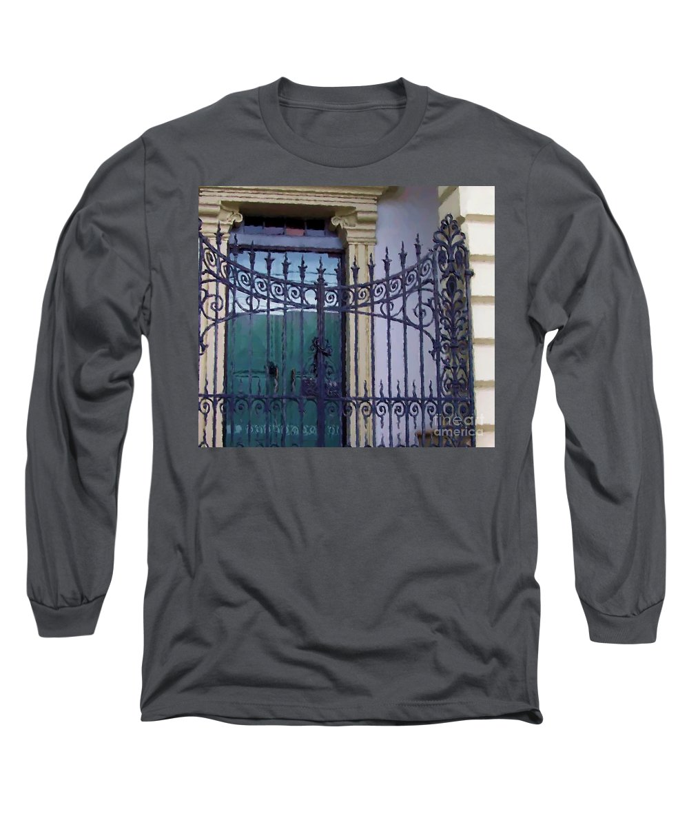 Gate Long Sleeve T-Shirt featuring the photograph Gated by Debbi Granruth