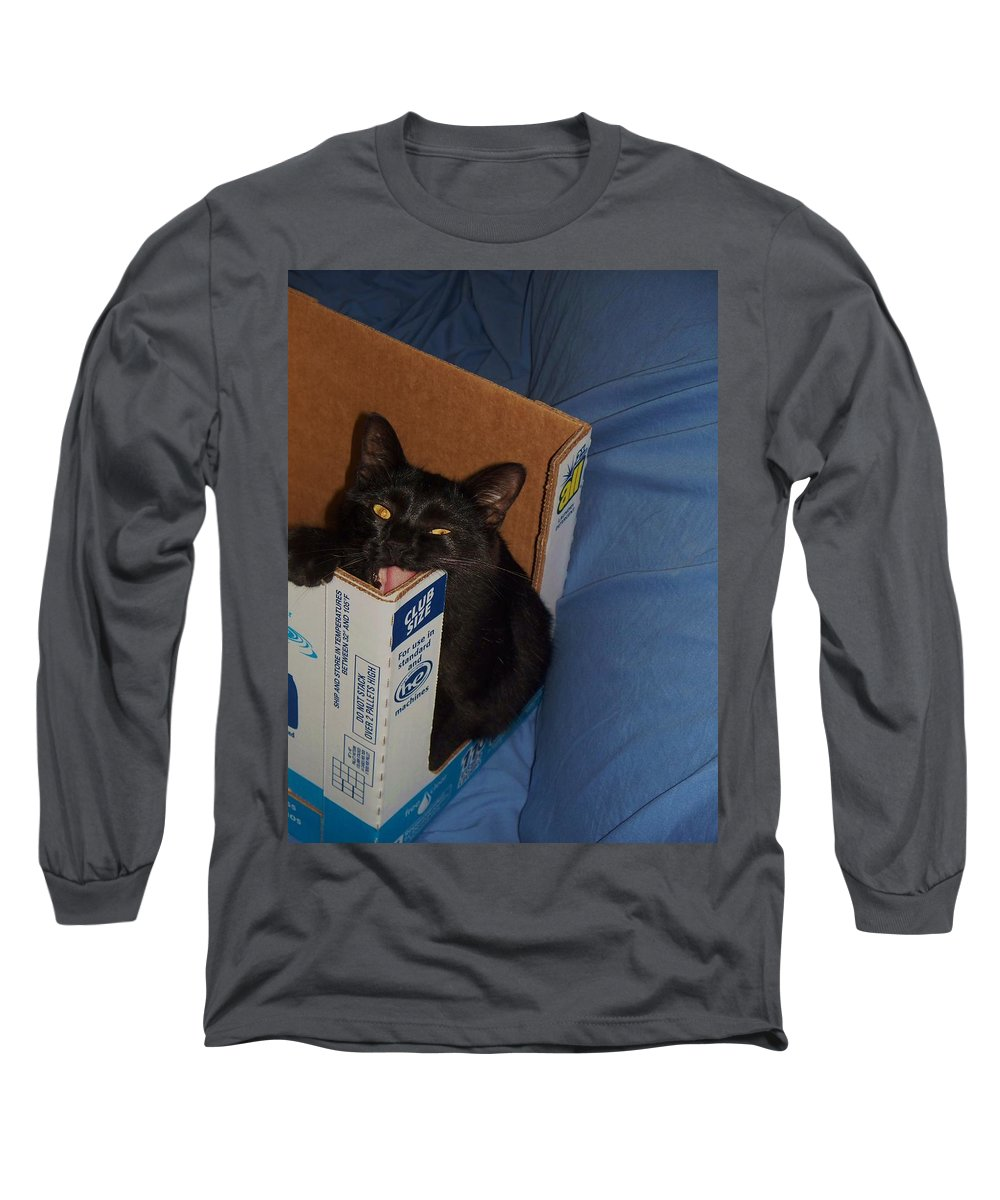 Cat Long Sleeve T-Shirt featuring the photograph Gepptto The Cat by Eric Schiabor