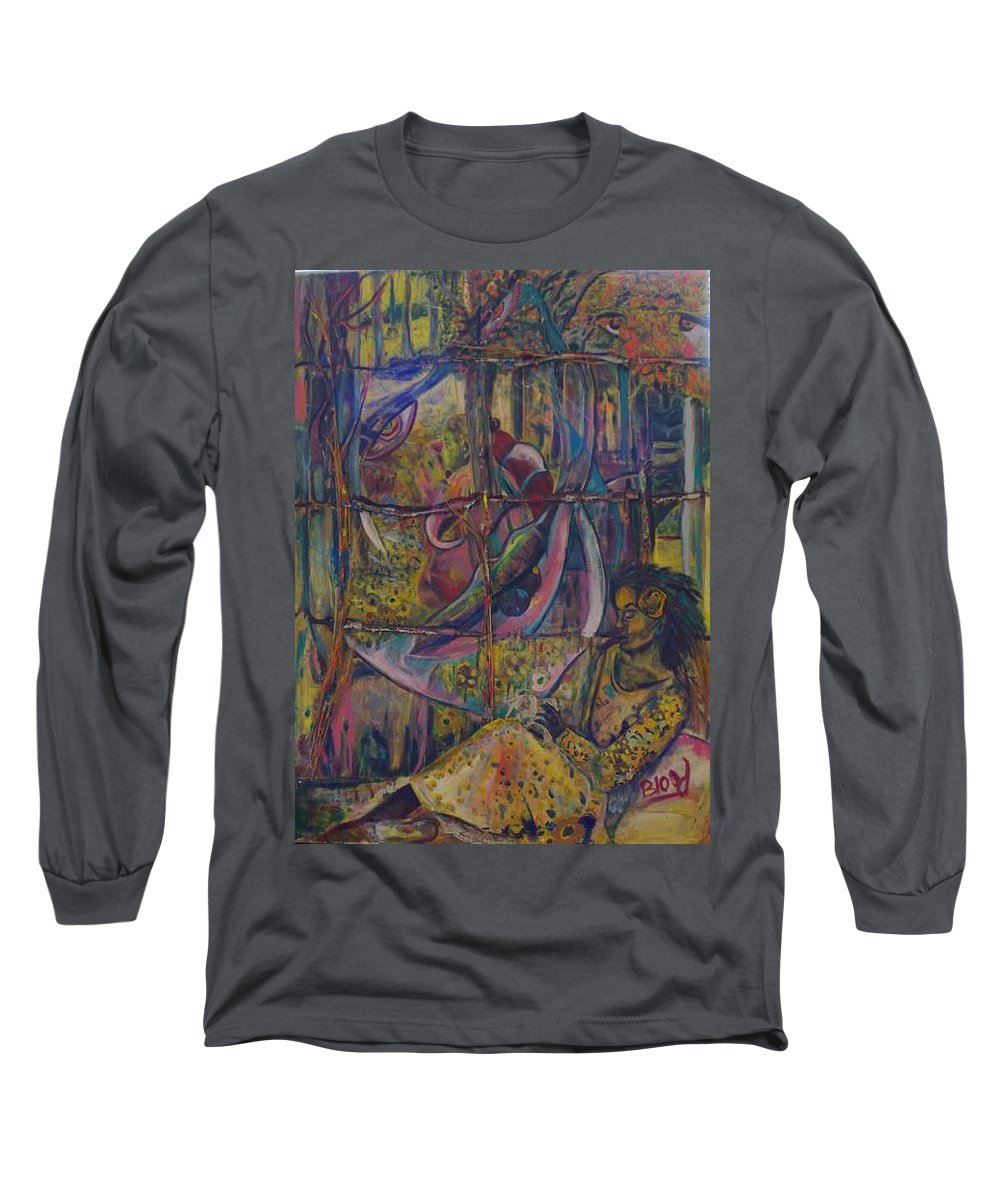Mother Long Sleeve T-Shirt featuring the painting Goodbye Sweet Dreams by Peggy Blood