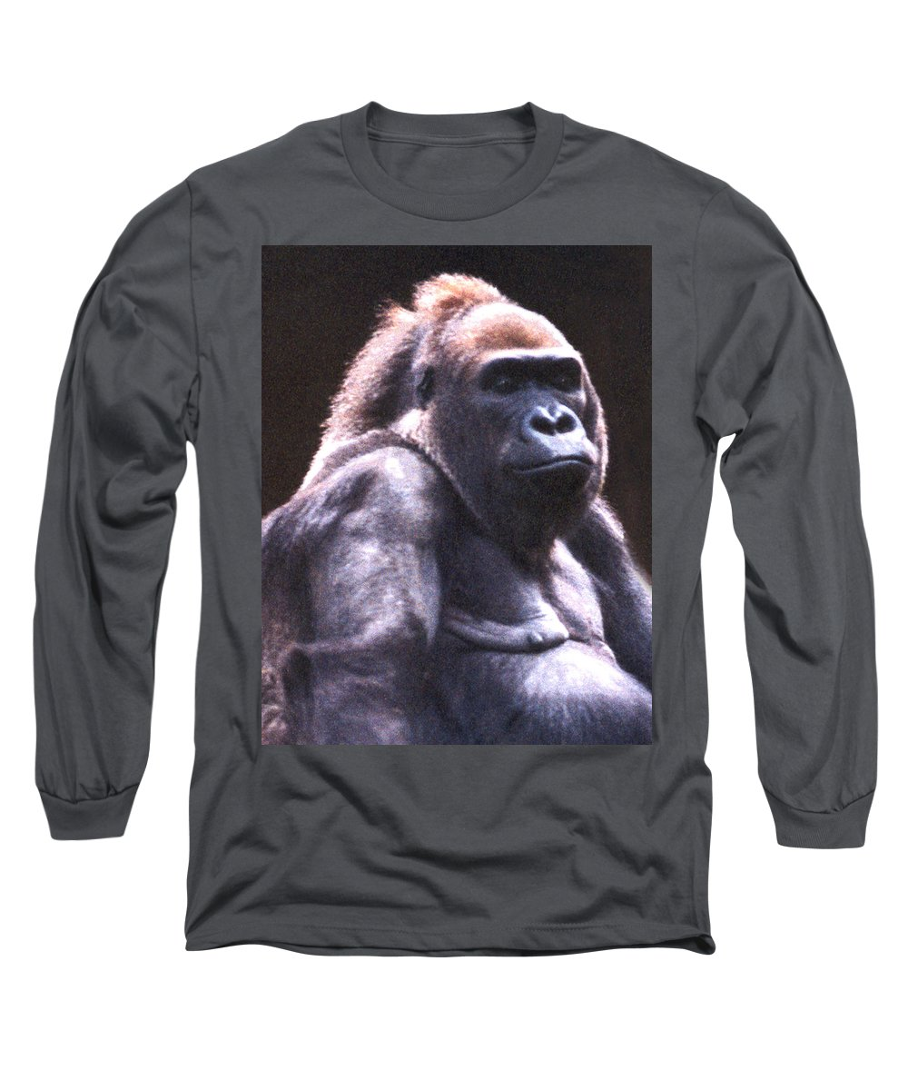 Gorilla Long Sleeve T-Shirt featuring the photograph Gorilla by Steve Karol