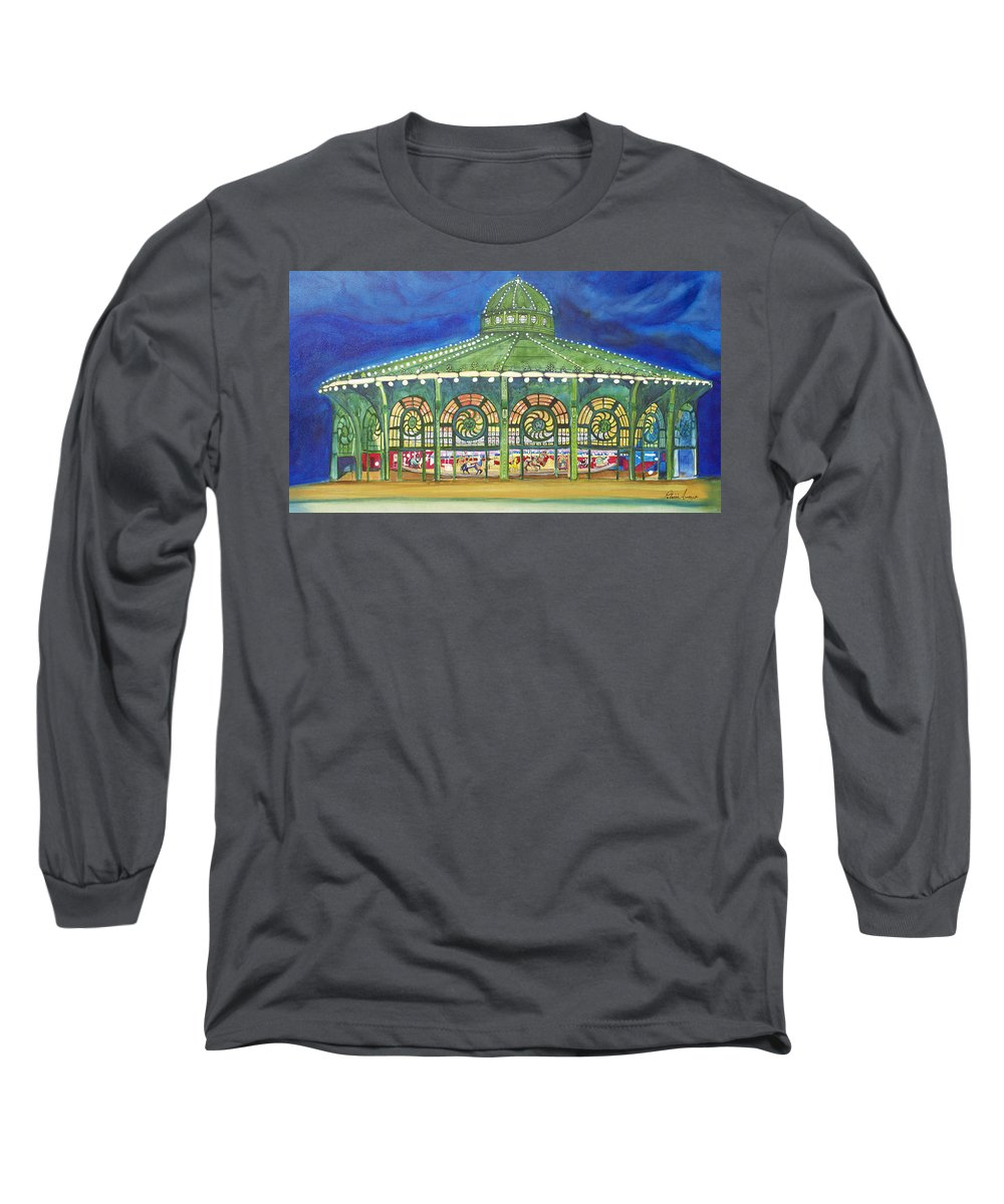Night Paintings Of Asbury Park Long Sleeve T-Shirt featuring the painting Grasping The Memories by Patricia Arroyo
