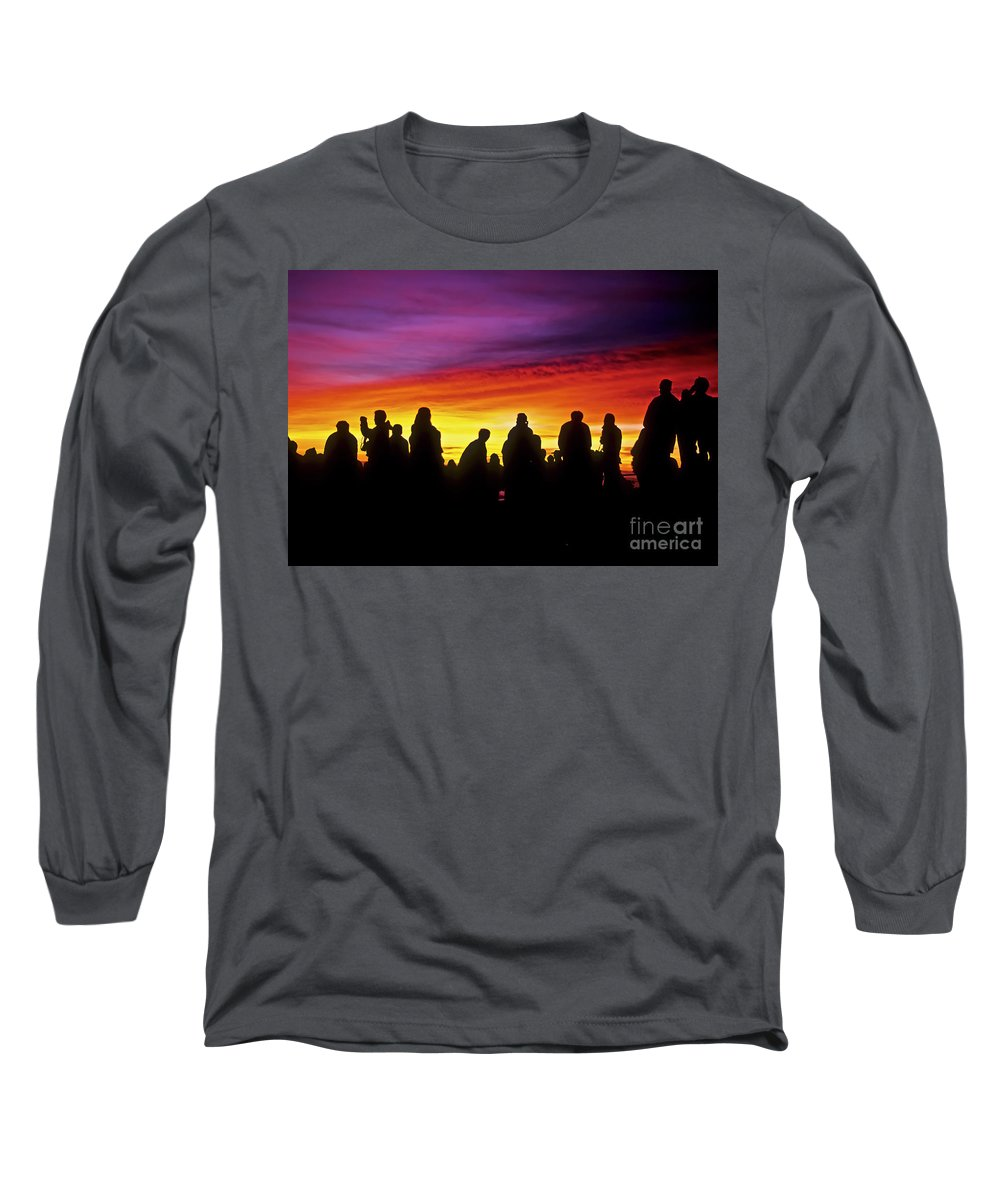 Haleakala Sunrise Long Sleeve T-Shirt featuring the photograph Haleakala Color Show by Jim Cazel