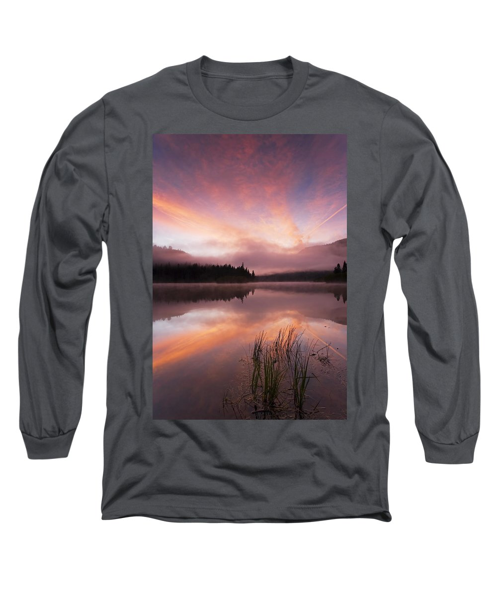 Sunrise Long Sleeve T-Shirt featuring the photograph Heavenly Skies by Mike Dawson