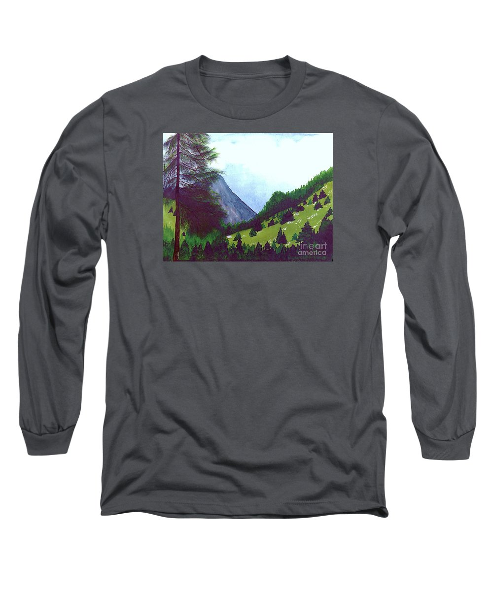 Original Painting Long Sleeve T-Shirt featuring the painting Heidi's Place by Patricia Griffin Brett