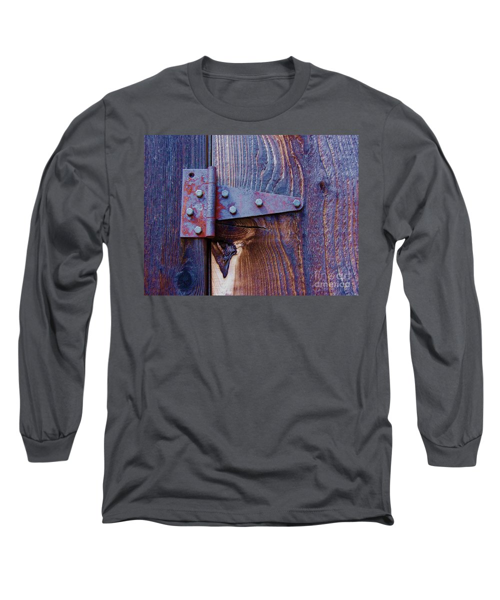 Hinge Long Sleeve T-Shirt featuring the photograph Hinged by Debbi Granruth