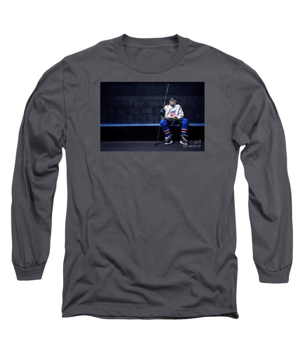 Kremsdorf Long Sleeve T-Shirt featuring the photograph Hockey Strong by Evelina Kremsdorf