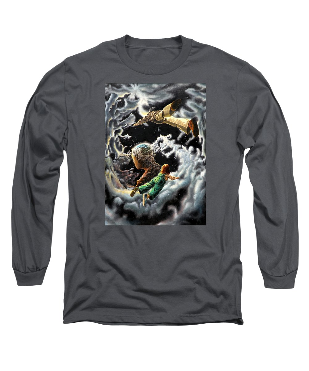 Fantasy Long Sleeve T-Shirt featuring the painting Homecoming by Dave Martsolf