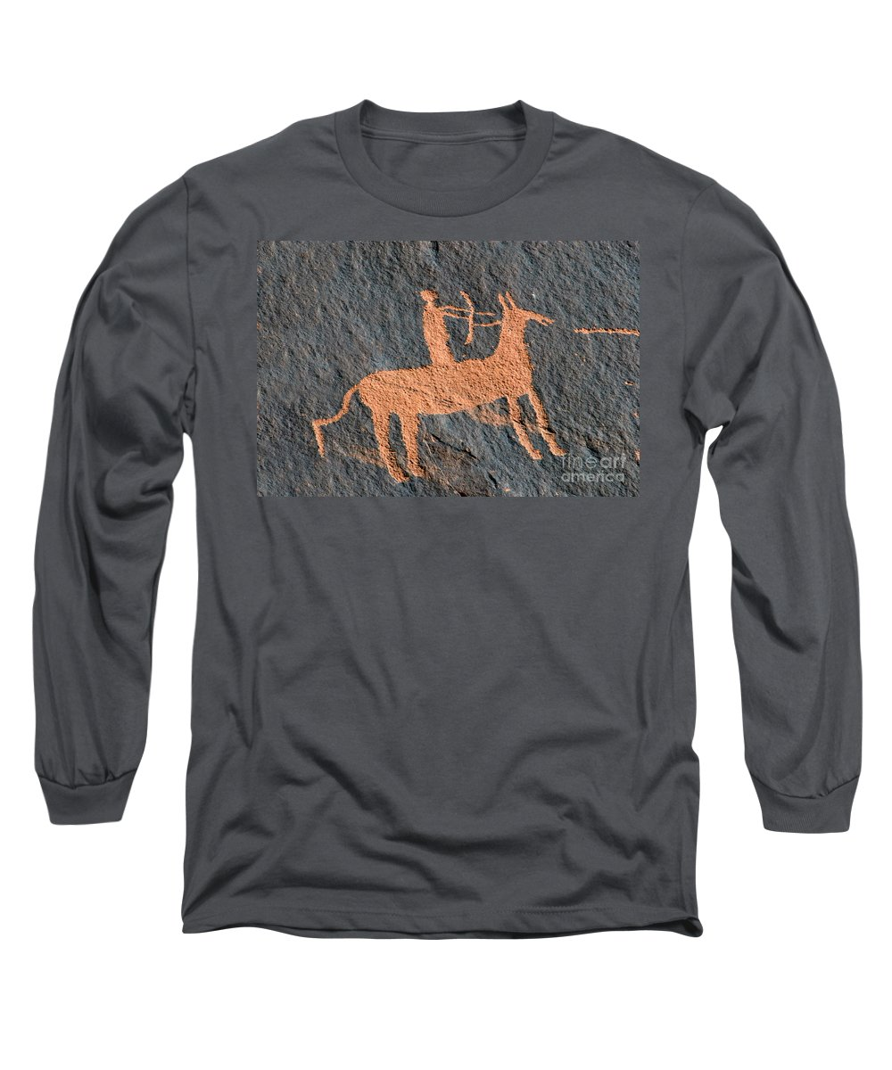 Bow And Arrow Long Sleeve T-Shirt featuring the photograph Horse And Arrow by David Lee Thompson