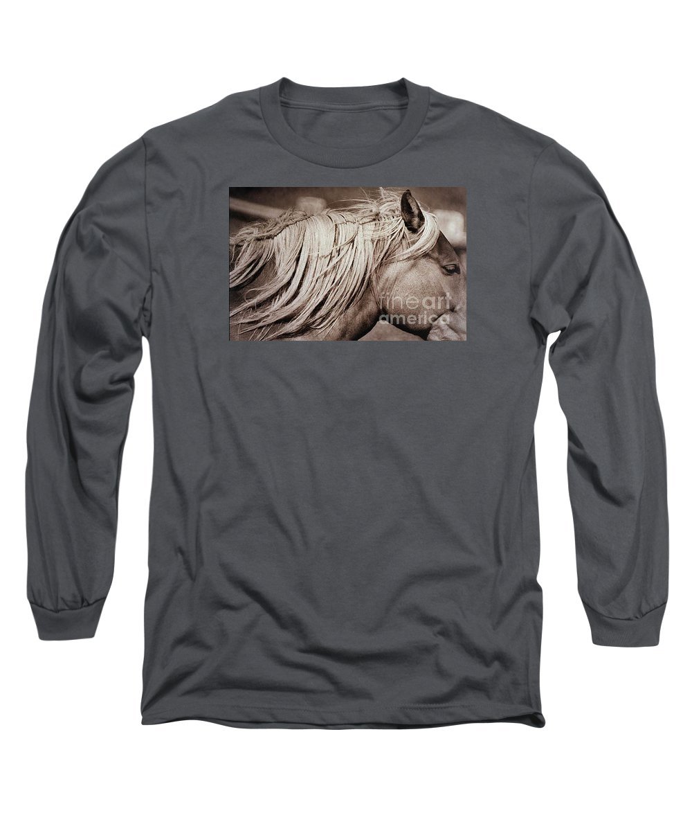 Horse Long Sleeve T-Shirt featuring the photograph Horse's Mane by Michael Ziegler