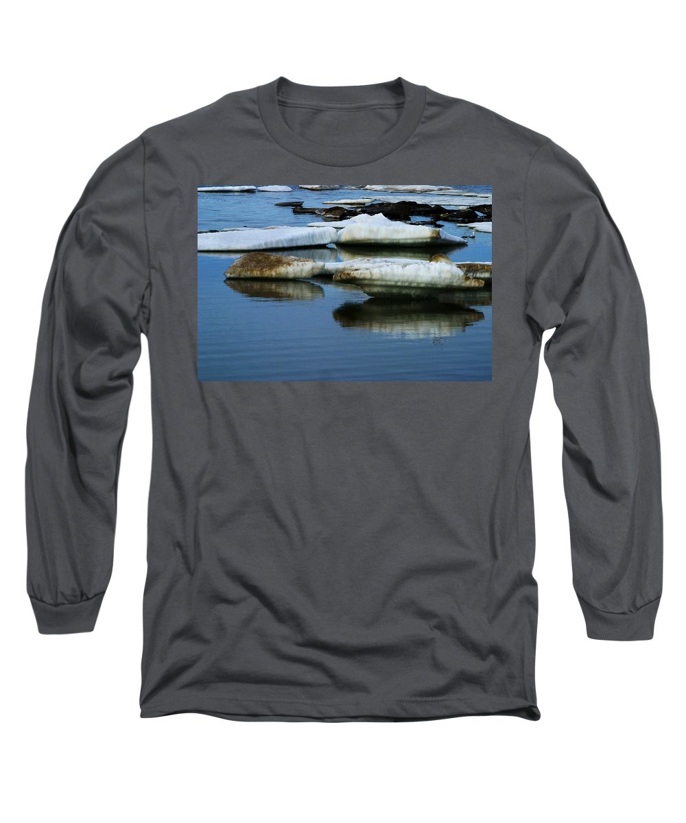 Ice Long Sleeve T-Shirt featuring the photograph Ice In The Arctic by Anthony Jones