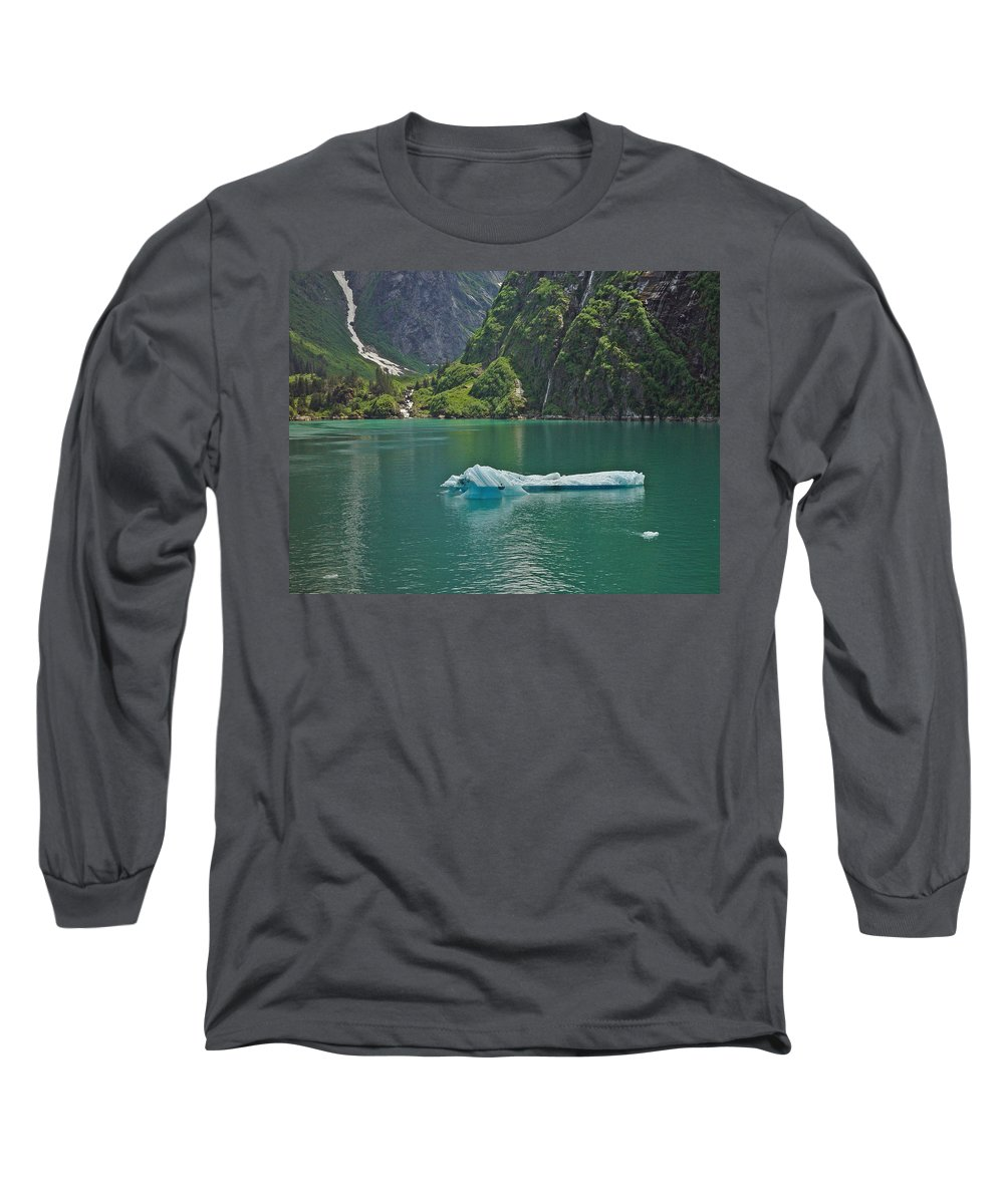 Iceburg Long Sleeve T-Shirt featuring the photograph Ice Tracy Arm Alaska by Heather Coen