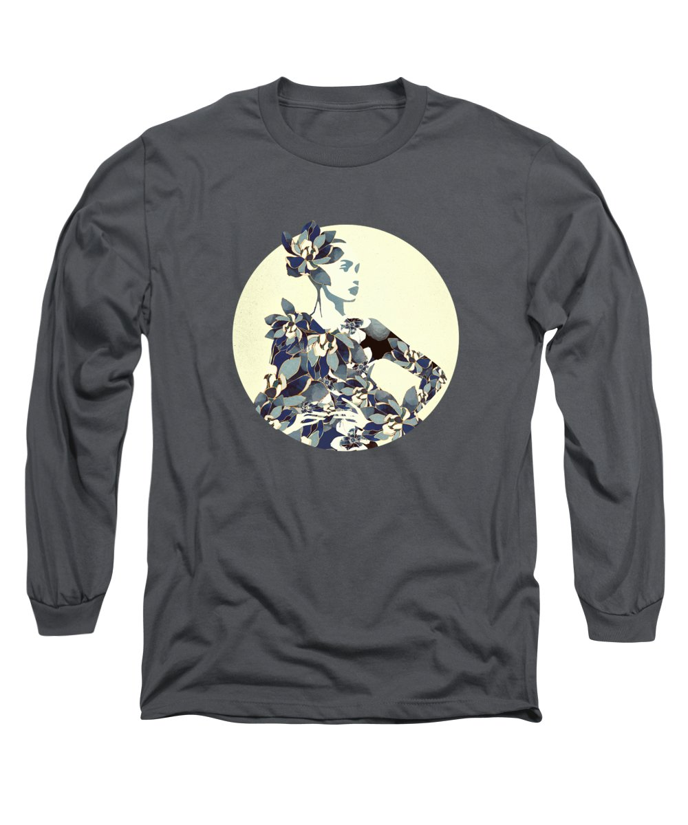 Female Long Sleeve T-Shirt featuring the digital art Inner Beauty II by Spacefrog Designs