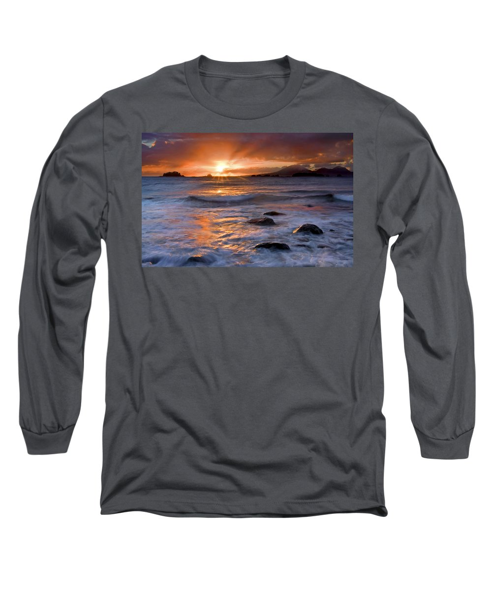 Alaska Long Sleeve T-Shirt featuring the photograph Inspired Light by Mike Dawson