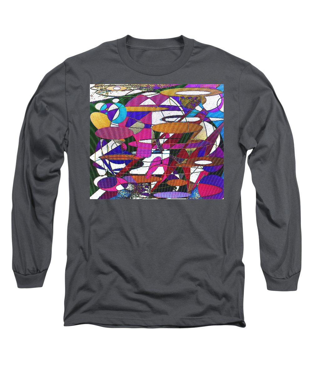Abstract Long Sleeve T-Shirt featuring the digital art Intergalatic by Ian MacDonald