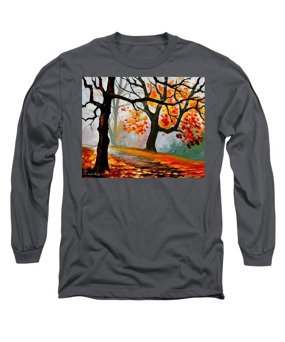Landscape Long Sleeve T-Shirt featuring the painting Interplacement by Leonid Afremov