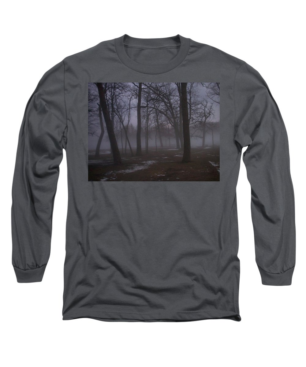 January Long Sleeve T-Shirt featuring the photograph January Fog 2 by Anita Burgermeister