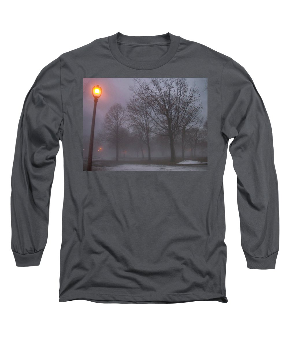 January Long Sleeve T-Shirt featuring the photograph January Fog 3 by Anita Burgermeister