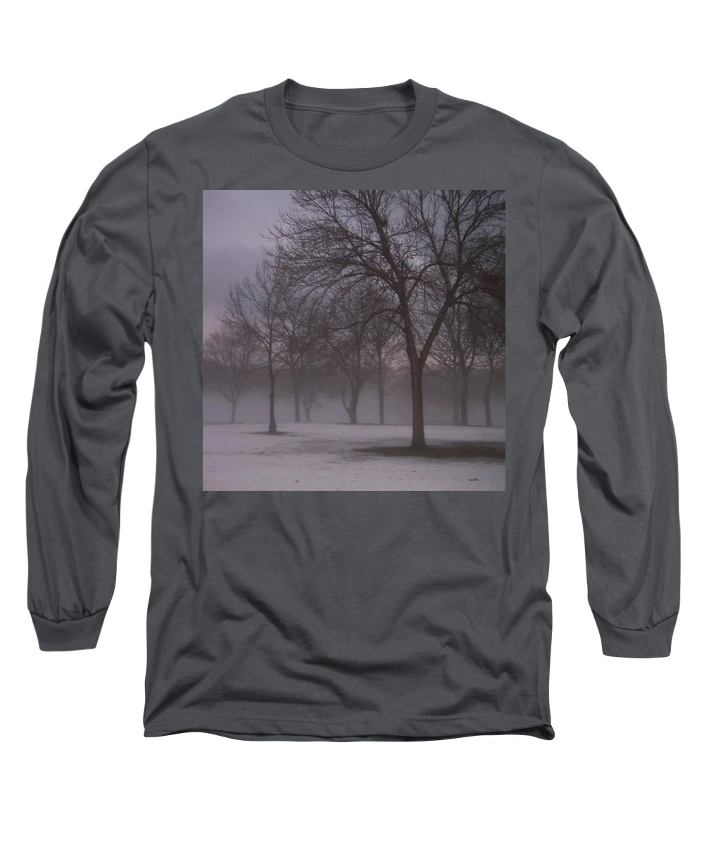 January Long Sleeve T-Shirt featuring the photograph January Fog 4 by Anita Burgermeister