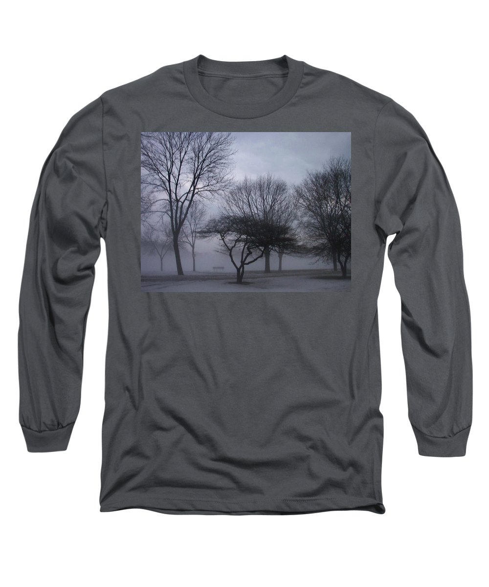 January Long Sleeve T-Shirt featuring the photograph January Fog 6 by Anita Burgermeister