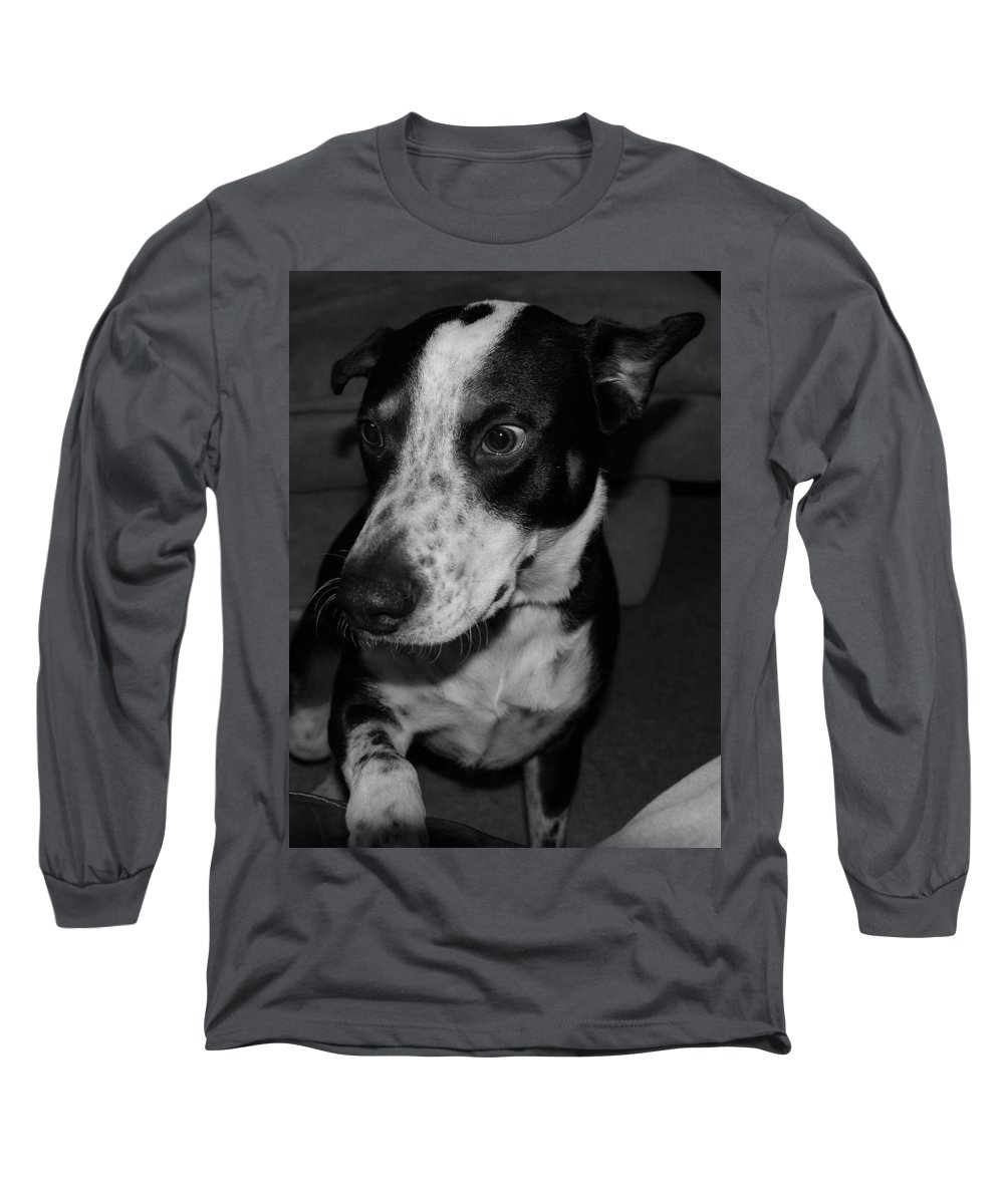 Black And White Long Sleeve T-Shirt featuring the photograph Jimmy by Rob Hans