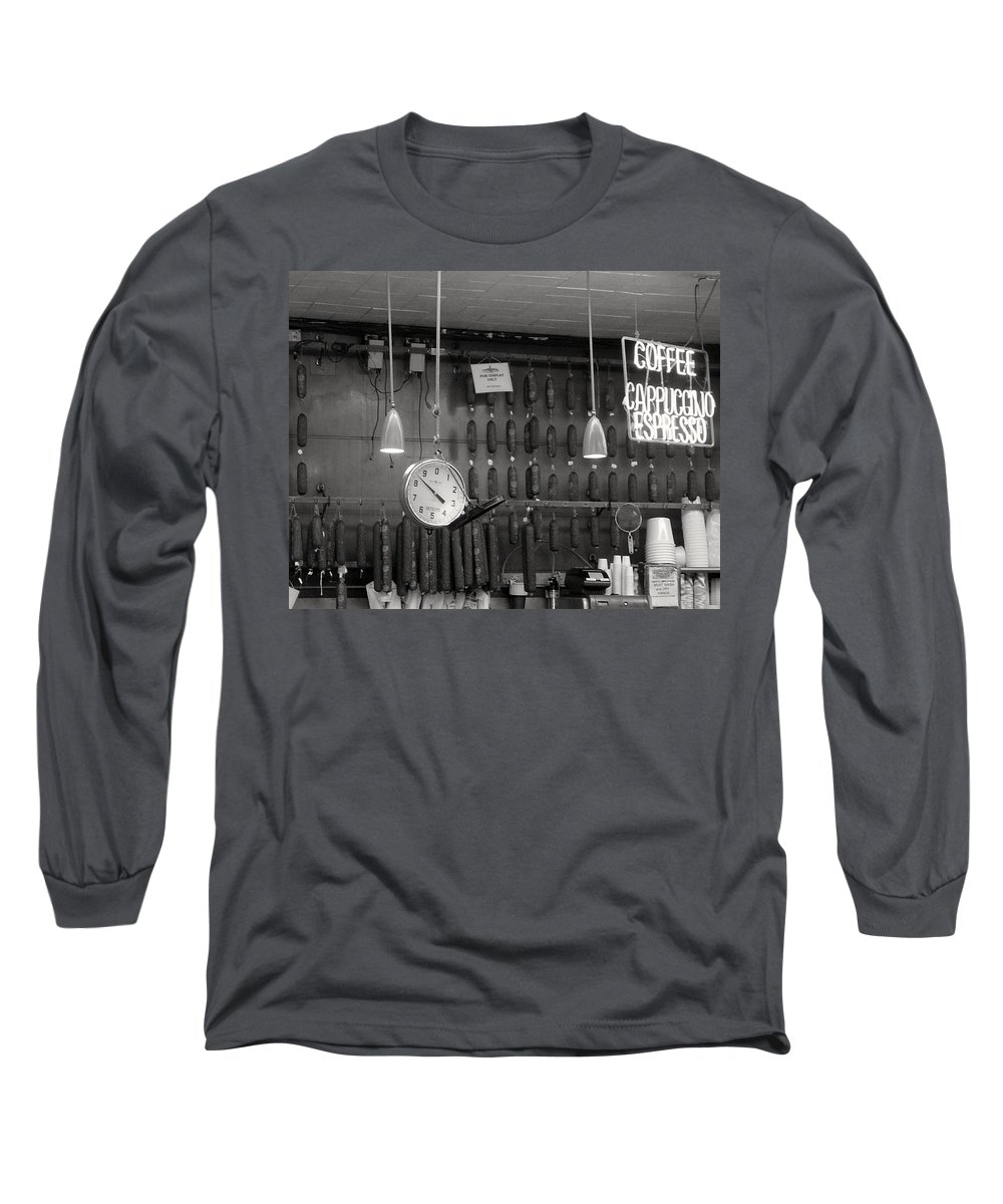 Deli Long Sleeve T-Shirt featuring the photograph Katz Deli by Debbi Granruth