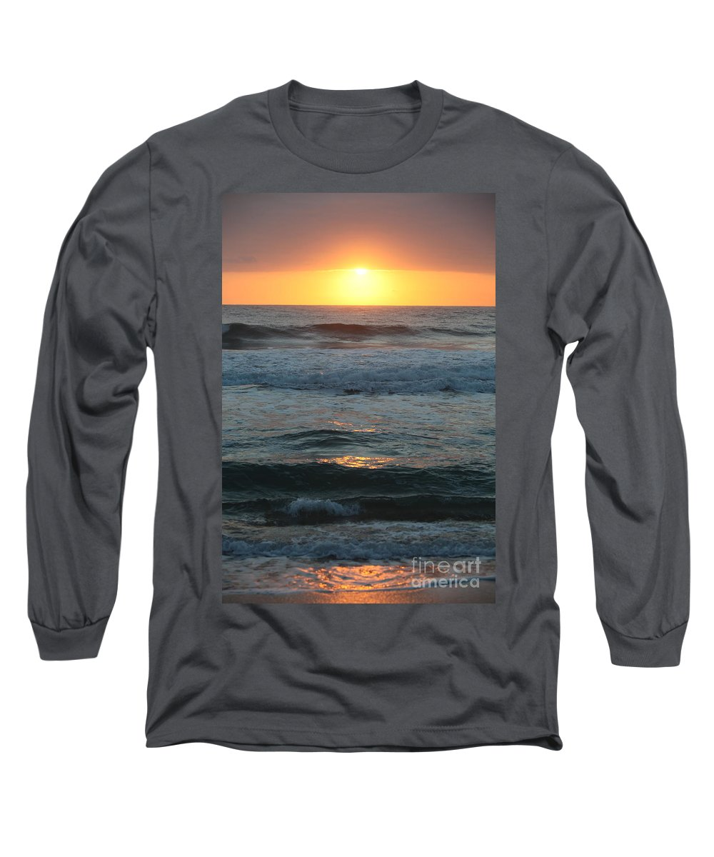 Kauai Long Sleeve T-Shirt featuring the photograph Kauai Sunrise by Nadine Rippelmeyer