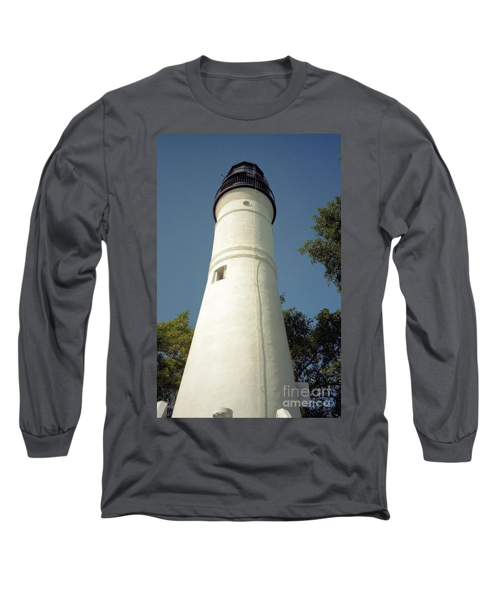 Lighthouses Long Sleeve T-Shirt featuring the photograph Key West Lighthouse by Richard Rizzo
