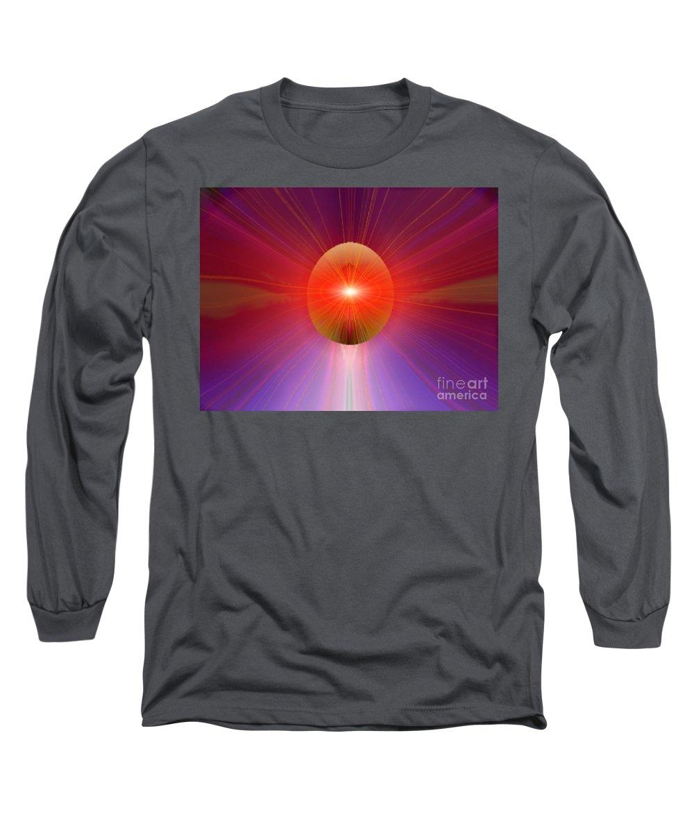Ki Long Sleeve T-Shirt featuring the digital art Ki Series. 205 V by Oscar Basurto Carbonell