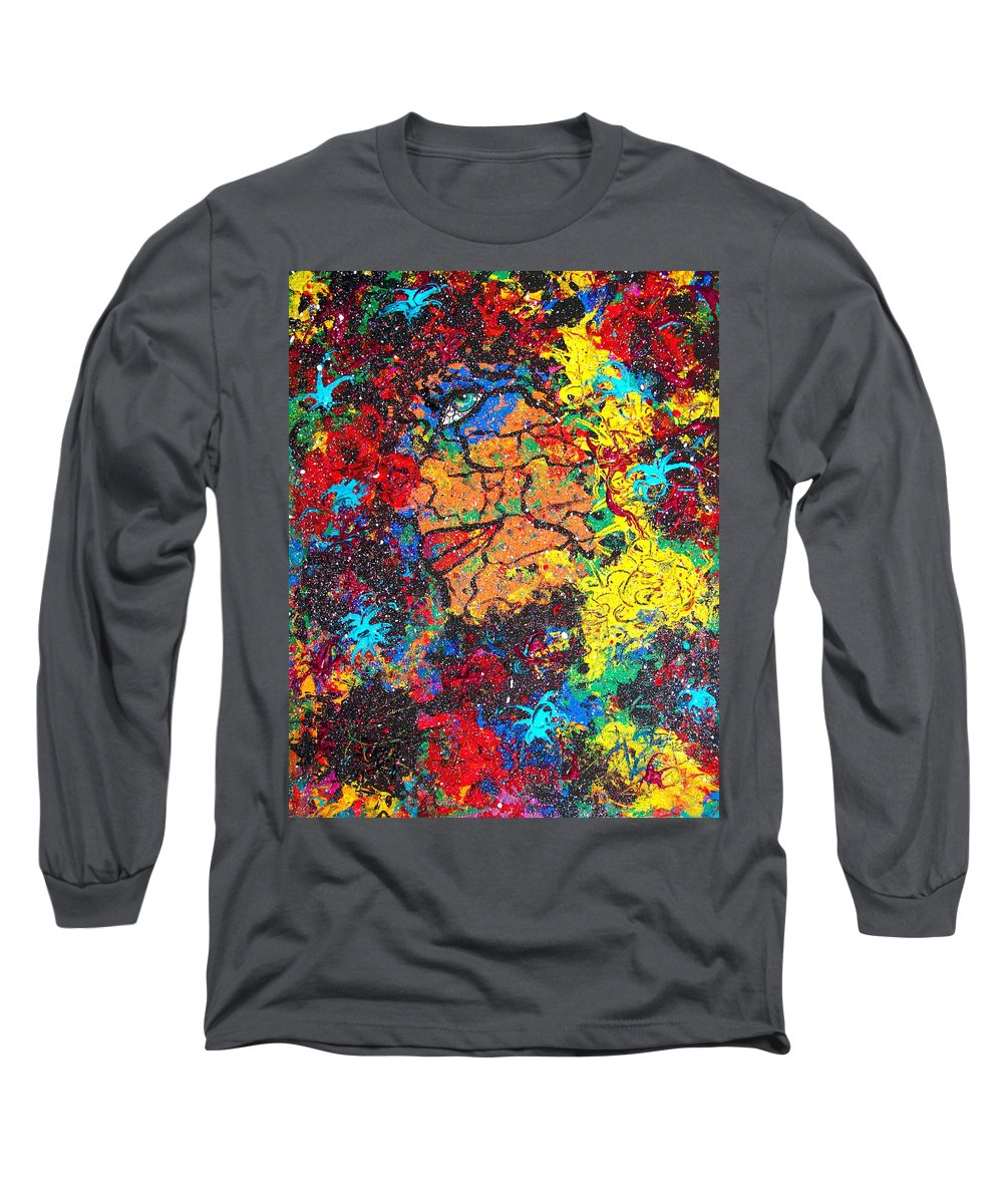 Woman Long Sleeve T-Shirt featuring the painting Lady Of Mystery by Natalie Holland