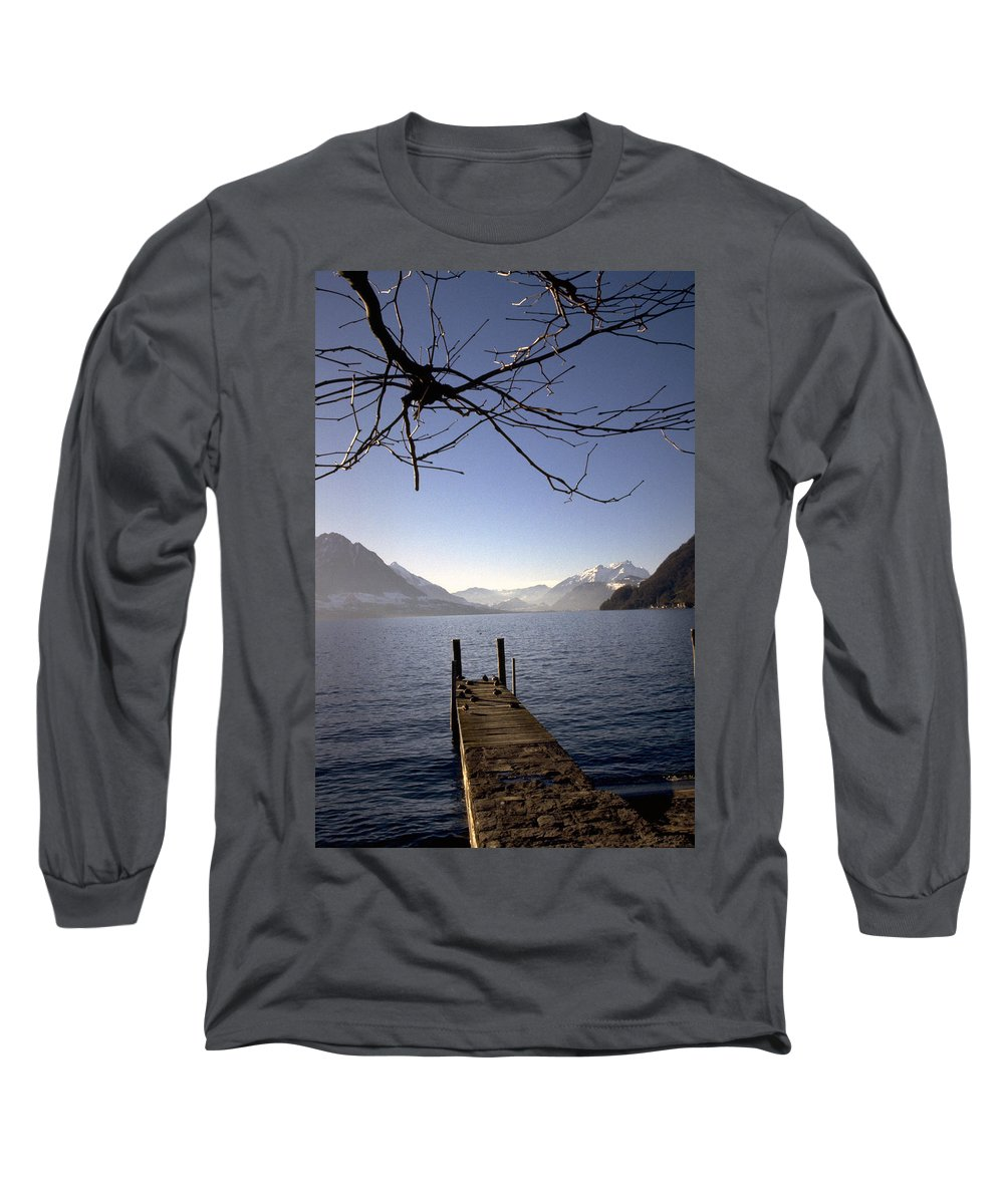 Lake Lucerne Long Sleeve T-Shirt featuring the photograph Lake Lucerne by Flavia Westerwelle