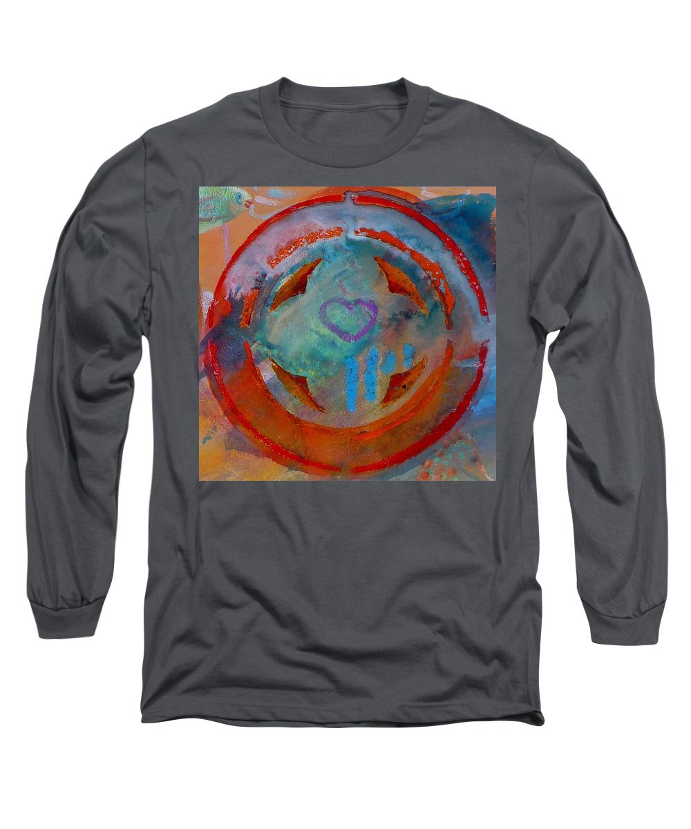 Love Long Sleeve T-Shirt featuring the painting Landscape Seascape by Charles Stuart