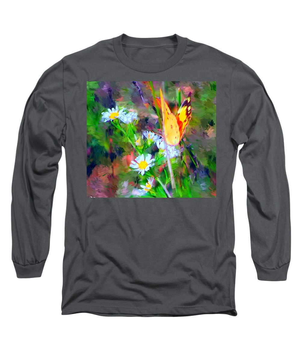 Landscape Long Sleeve T-Shirt featuring the painting Last Of The Season by David Lane