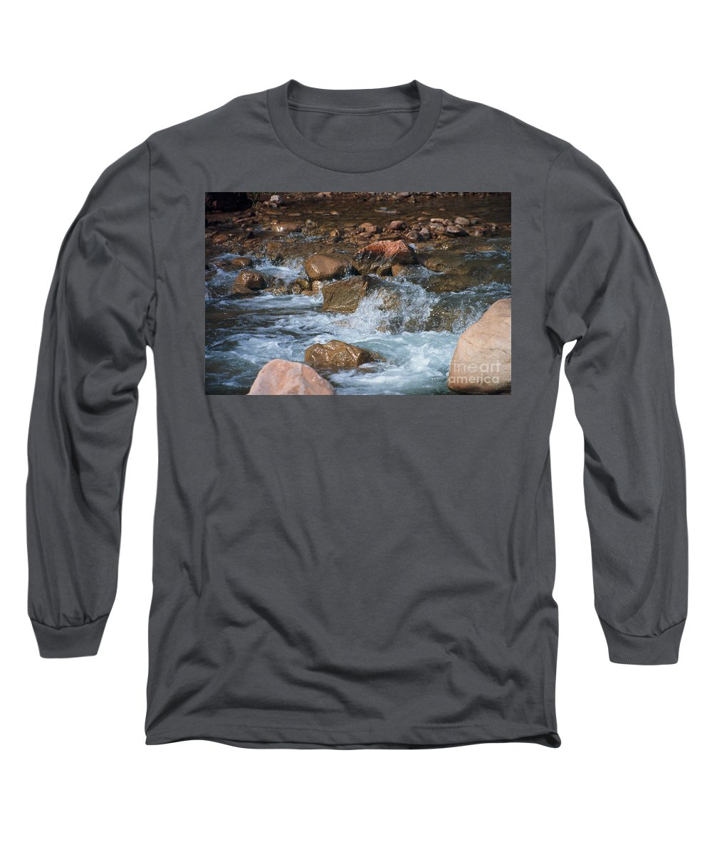 Creek Long Sleeve T-Shirt featuring the photograph Laughing Water by Kathy McClure