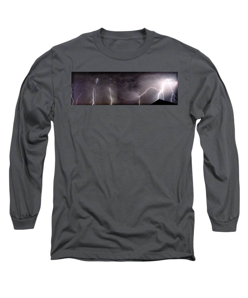 Lightning Long Sleeve T-Shirt featuring the photograph Lightning Over Perris by Anthony Jones