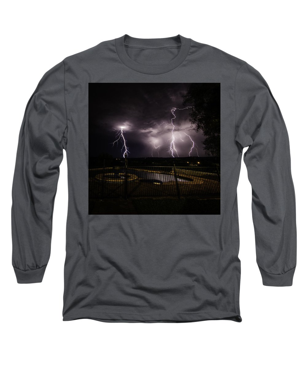 Weather Long Sleeve T-Shirt featuring the photograph Lightning Strikes by Chris Cousins