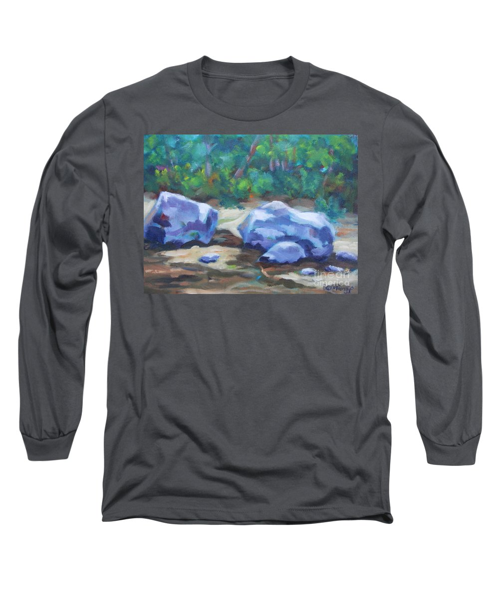 Expressionist Landscape Long Sleeve T-Shirt featuring the painting Lindenlure by Jan Bennicoff