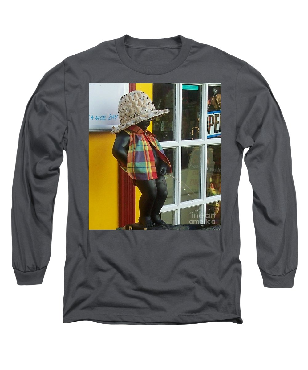 Fountain Long Sleeve T-Shirt featuring the photograph Little Wiz by Debbi Granruth