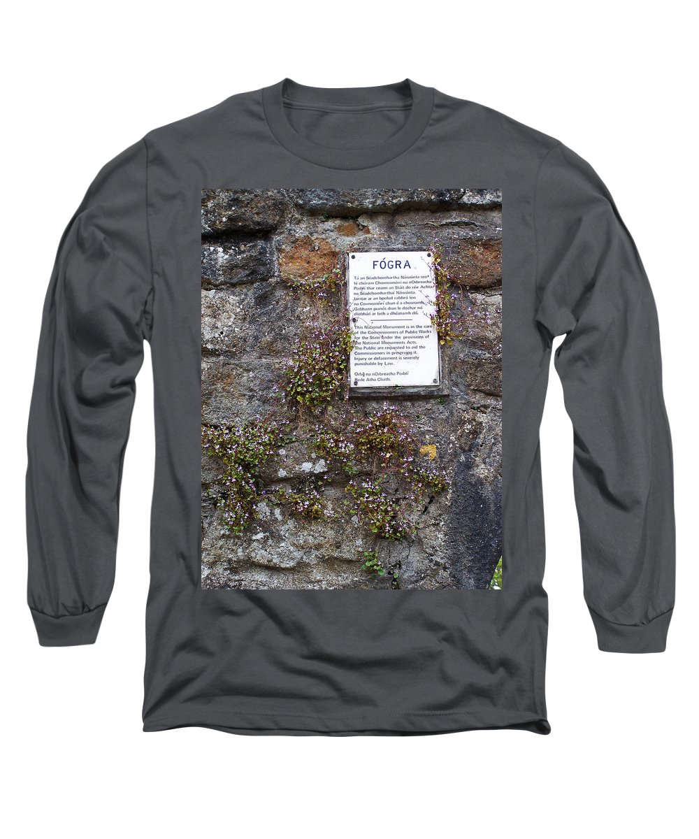 Irish Long Sleeve T-Shirt featuring the photograph Living Wall At Donegal Castle Ireland by Teresa Mucha