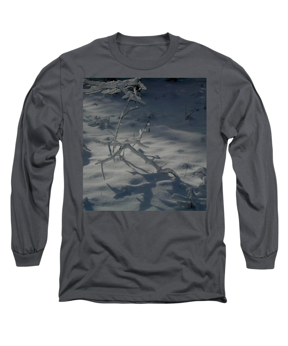Loneliness Long Sleeve T-Shirt featuring the photograph Loneliness In The Cold by Douglas Barnett