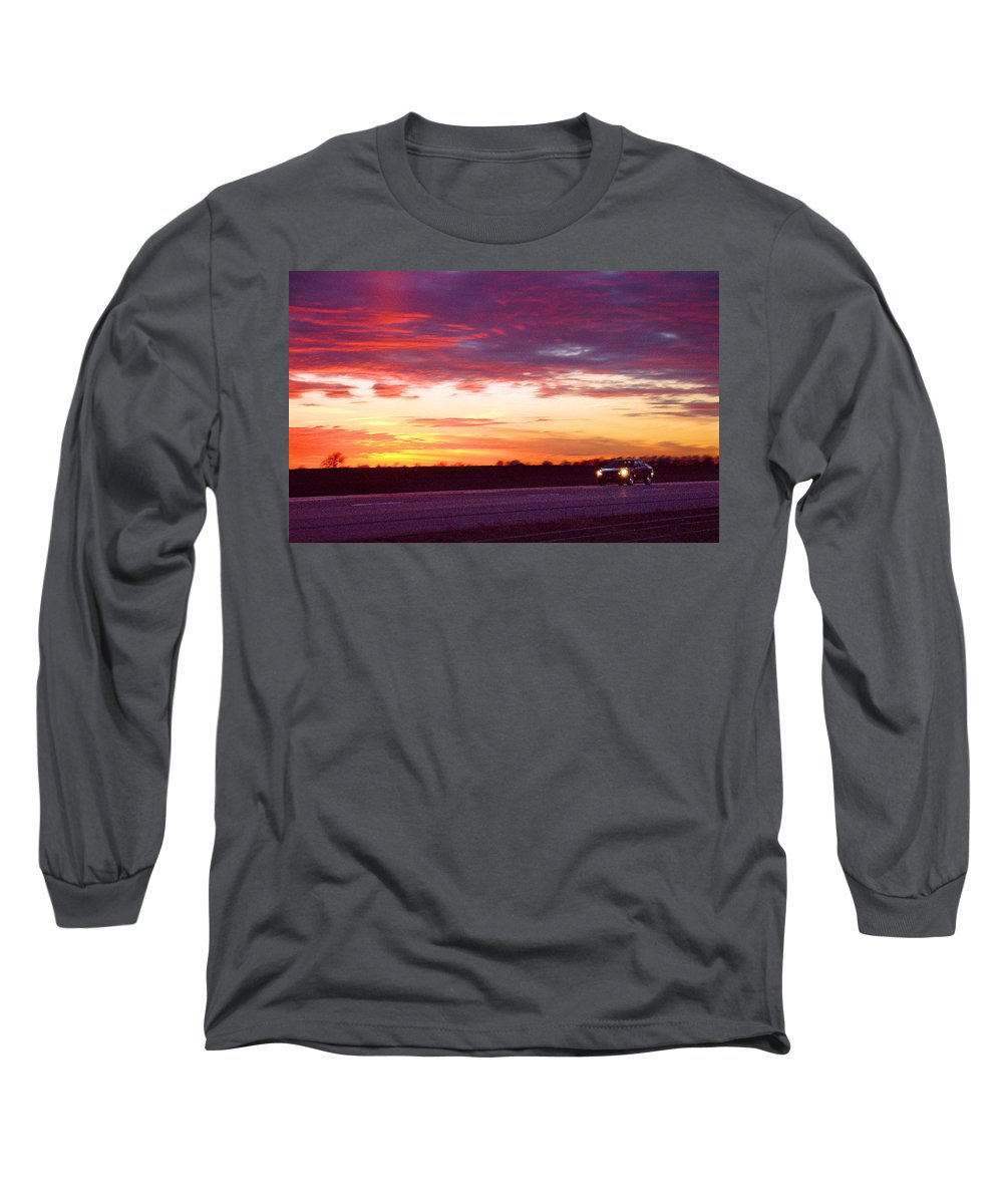 Landscape Long Sleeve T-Shirt featuring the photograph Lonesome Highway by Steve Karol