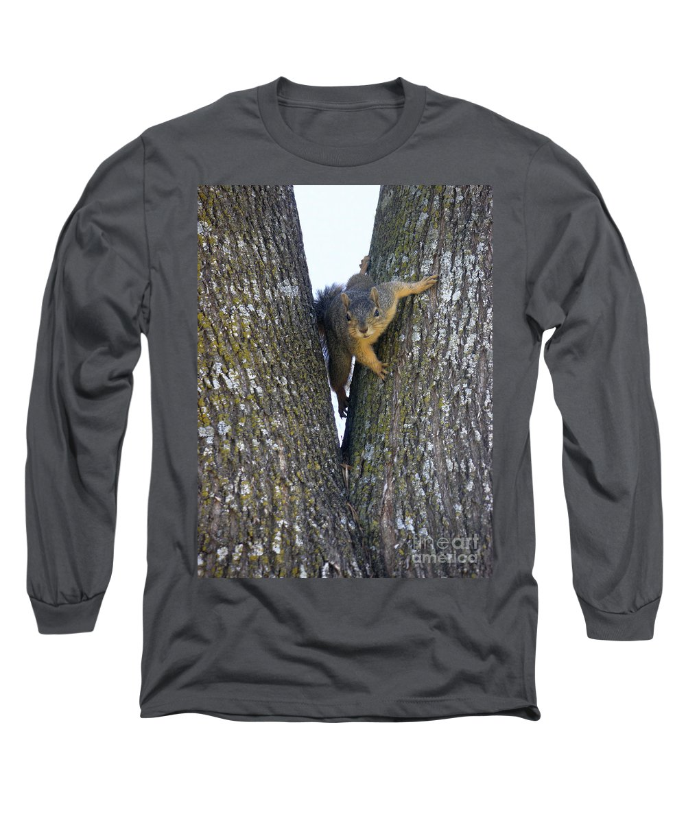 Nature Long Sleeve T-Shirt featuring the photograph Looking Back by Lucyna A M Green