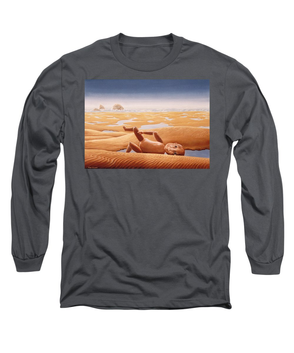 Surreal Long Sleeve T-Shirt featuring the painting Lost In A Dream by Mark Cawood