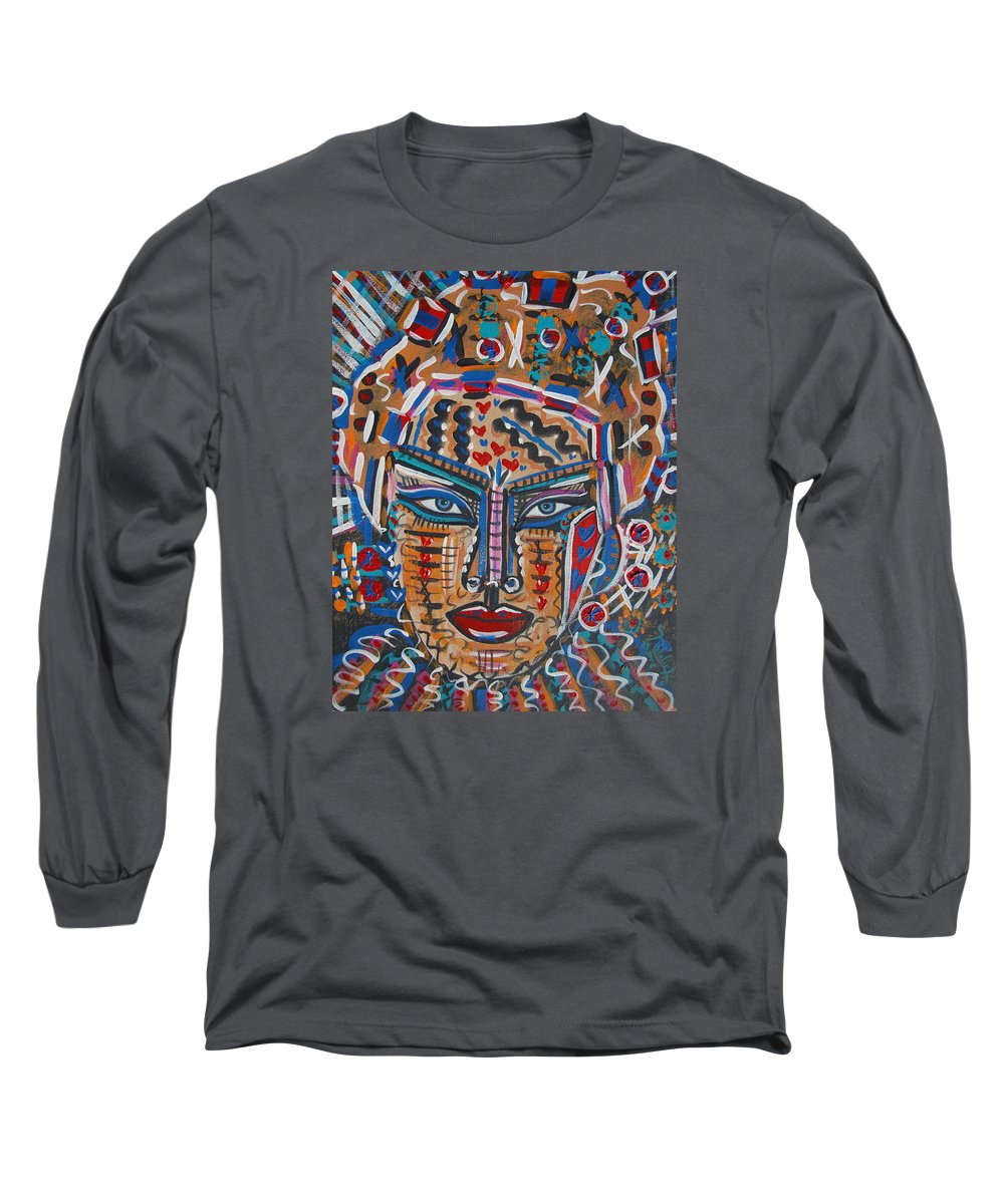 Abstract Long Sleeve T-Shirt featuring the painting Loviola by Natalie Holland